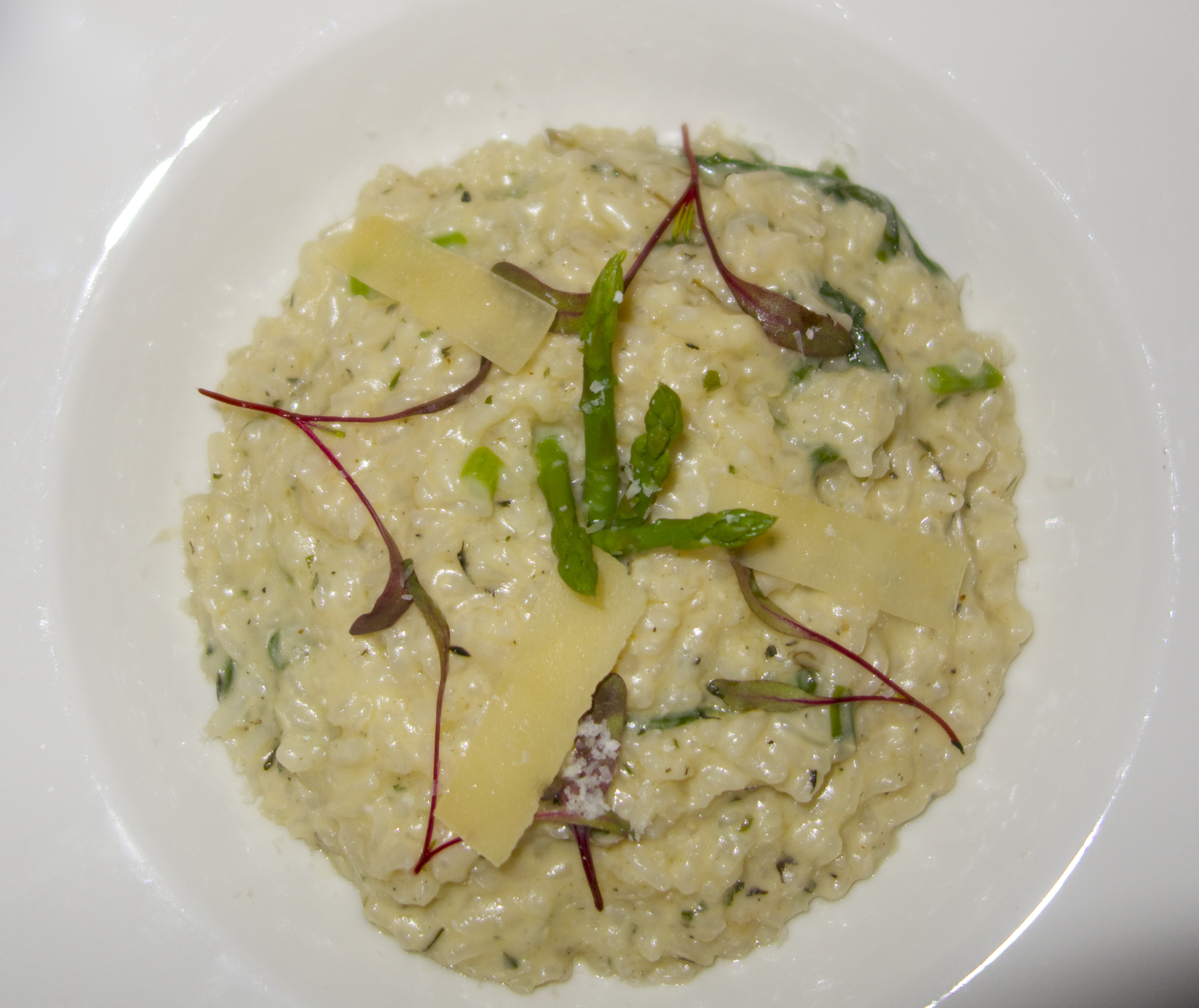 Veggie Risotto with Baby Spinach, Asparagus tips and Portobello ...