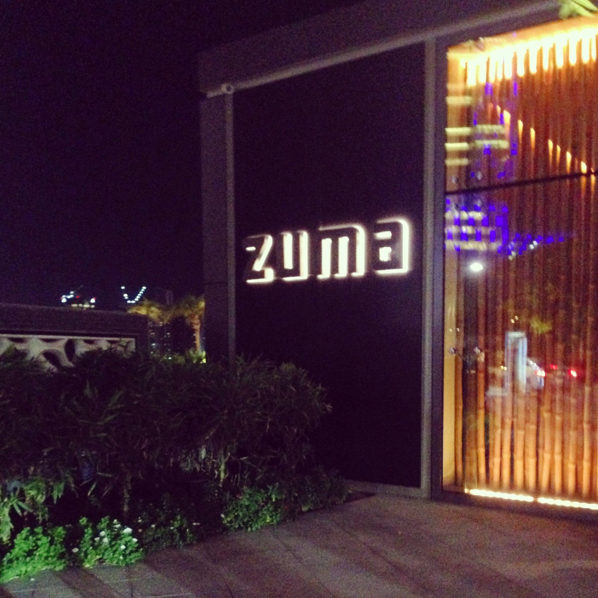 Drinks at Zuma, Abu Dhabi